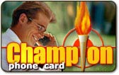 champion phone card